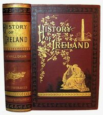 Antique IRELAND Irish HISTORY 1884 Celtic GAELIC Kings WARS Dublin CHURCH State