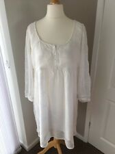 Next Ladies Dress Size 16 Cream Off White Dual Layered Chiffon Empire Line