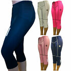 SHADOW LADIES PADDED CYCLE TIGHTS THREE QUARTERS 3/4 CYCLING LEGGINGS SHORTS