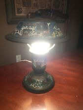 VTG ANTIQUE ENAMEL BRASS JAPANESE CLOISONNE CHAMPLEVE TABLE DESK LAMP JAPAN