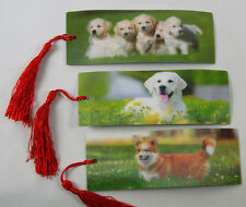 3 Bookmarks - 3D Lenticular - Dogs - Labrador (& Puppies) and Welsh Corgi