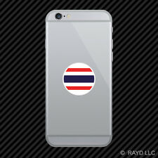 Round Thai Flag Cell Phone Sticker Mobile Die Cut Thailand