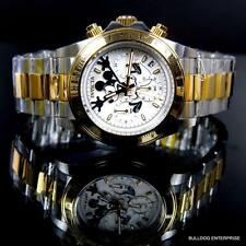 Invicta Disney Mickey Speedway Stainless Steel Limited Ed White 2 Tone Watch New