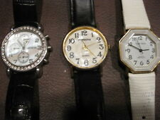 BB: 3 WOMENS WATCHES - NEED BATTERIES - WORKING - GREAT USED CONDITION