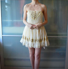 Snidel cream vintage style Summer babydoll corset dress ~ JAPAN LOLITA JAPANESE