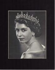 A Young Queen Elizabeth II of England Photo Matted