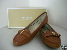 Authentic Michael Kors Rory Moccasins Women Shoes Luggage Size 8.5