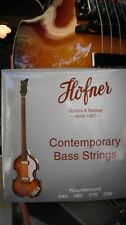 NEW HOFNER BASS STRINGS ROUNDWOUND 4 STRING SET CT BASS