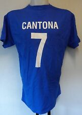 FRANCE RETRO CANTONA 7 FOOTBALL TEE-SHIRT ADULTS SIZE LARGE BRAND NEW