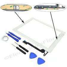 Touch Screen Digitizer Replacement Apple iPad 4th Black White With Home Button