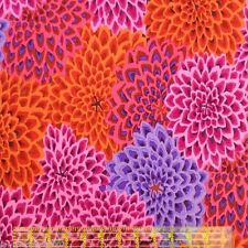 Fat Quarter Kaffe Fassett: Dahlia Blooms Ltd Ed - Lush Cotton Quilting Fabrics