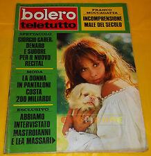 BOLERO FILM 1973 n. 1381 Lea Massari, Gianni Morandi, Michele Placido, Di Capri