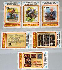NICARAGUA 1980 2085-90 b Sir Rowland Hill Olympics Moscow silver ovp ÜD MNH