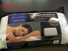NUOVO quitenight Ultimate Memory Foam in bambù testa ferma Supporto Collo Cuscino di Raso
