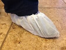 Shoe Cover Booties, CPE Film, White, XL, disposable, cleanroom, carpet cleaning