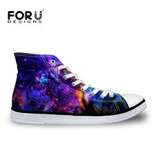 Mens Womens High Tops Flat Canvas Pumps Galaxy Star Lace Hi Top Trainers Shoes