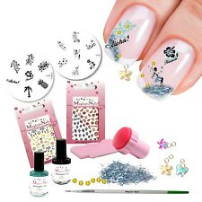 Set STAMPING, STAMPING KIT, ALOHA, Hawaii, 33 pezzi Anja Beck, Magical-NAILS