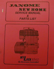 Janome/New Home MyLock 634D Serger Service Manual & Parts List