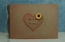 Rustic sunflower A4 Scrapbook Photo Album vintage wedding keepsake memory book