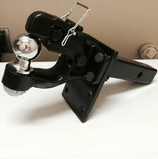 "1 ton PINTLE 1 7/8"" Ball + Adjustable receiver BALL HITCH TOWING Heavy!!"