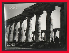 FOTOGRAFIA PHOTO VINTAGE B/N BLACK AND WHITE 1978 PAESTUM TEMPIO - SALERNO