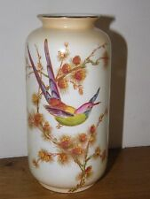 Art Deco Crown Ducal Ware Cylinder Vase ~ Exotic Bird Pattern