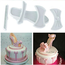 9pcs Fondant Cake Plastic Lady High-Heeled Shoes Mould Mold Cutter Baking Tools