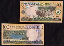 RWANDA BANKNOTE 100 FRANCS 2003 FIOR DI STAMPA UNC BELLA BANCONOTA