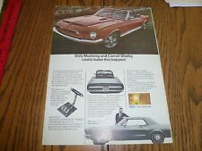 FORD MUSTANG SHELBY COBRA GT 500 Convertible & Mustang AD SALES Advertisement