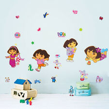 Cute Dora Girls gift kids room decor Wall sticker Wallpaper wall decals Mural