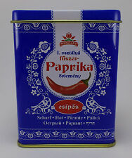 Hungarian Paprika Hot Kalocsai Paprika 50g / 1.8 oz. Tin + FREE wooden scoop