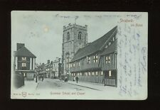 Warwicks Warwickshire STRATFORD-ON-AVON School Hold to Light PPC 1905