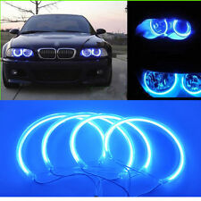 HI-POWER CCFL ANGEL EYE HALO RING BLUE FOR BMW E46 3-SERIES COUPE 325i 330Ci