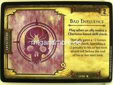 D&D Fortune Cards - 1x Bad Influence  #024