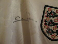 Stuart Pearce Signed England 1990-1992 Remake no 19 Football Shirt with our COA