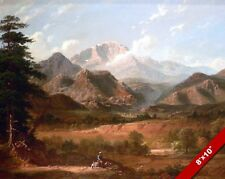 PIKES PEAK COLORADO ROCKY MOUNTAINS LANDSCAPE PAINTING ART REAL CANVAS PRINT