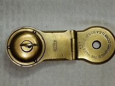 Vintage The Yale & Towne Stamford Conn USA # 457 Trunk Lock w/ Key Solid Brass