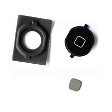NEW BLACK HOME BUTTON WITH RUBBER WITH SPACER CONTACT FOR IPHONE 4S SPARE PART