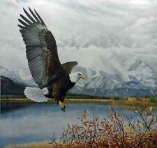 Charles Frace' Wings Over America Bald Eagle Snow Mountains Alaska S/N Limited
