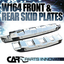 2006-2008 Mercedes Benz W164 ML350 Chrome Front+Rear Lower Bumper Skid Plates