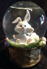 "Easter Bunny Musical Snowdome Plays ""Here Comes Peter Cotton Tail"""