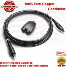 6FT Digital Optic Audio Toslink Cable + Toslink Digital Audio Splitter