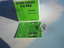 .CAR DEALER LOT 250 NEW EZ FOLDING KEY TAGS WITH RINGS Green