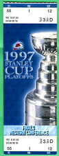1997 NHL HOCKEY STANLEY CUP PLAYOFFS FULL TICKET-COLORADO AVALANCHE