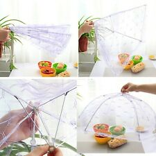 Fold Food Umbrella Cover Picnic Kitchen Party Pop Up Mesh Fly Wasp Insect RS