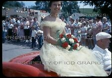 Vtg COAL VALLEY SMALL TOWN PARADE 35mm PHOTO SLIDE - Shell Gas Queen Lady Girl