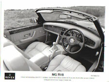 MG RV8 Interior& dashboard Original 1992 black & white Press Photograph No. 255