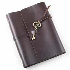 Ancicraft Refillable Leather Journal Diary Notebook With Retro Key A5 Blank Gift