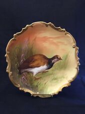 Beautiful Vintage Limoges Hand painted Coronet Game Bird Plate, Artist Signed.