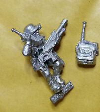 Warhammer 40k Imperial / Astra Militarum Vox Officer - metal - Stripped